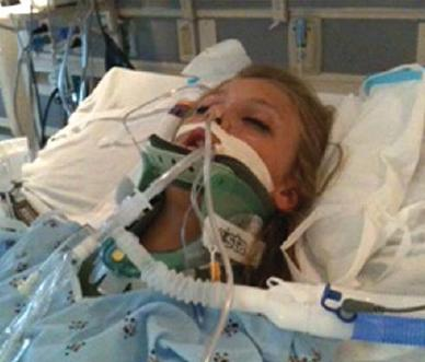 brain injury patient on life support